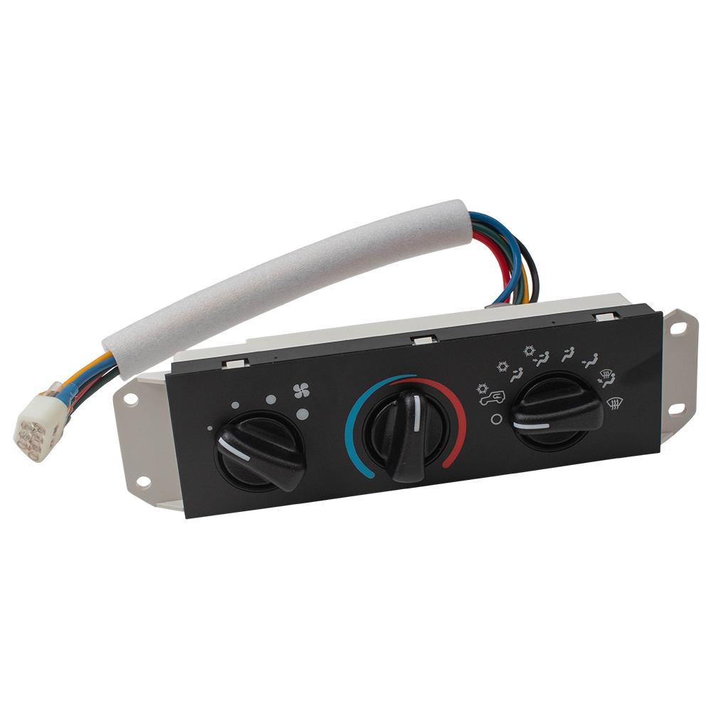 99-04 Jeep Wrangler HVAC Heater A/C Control Panel w/ Blower Motor Switch  55037473AB