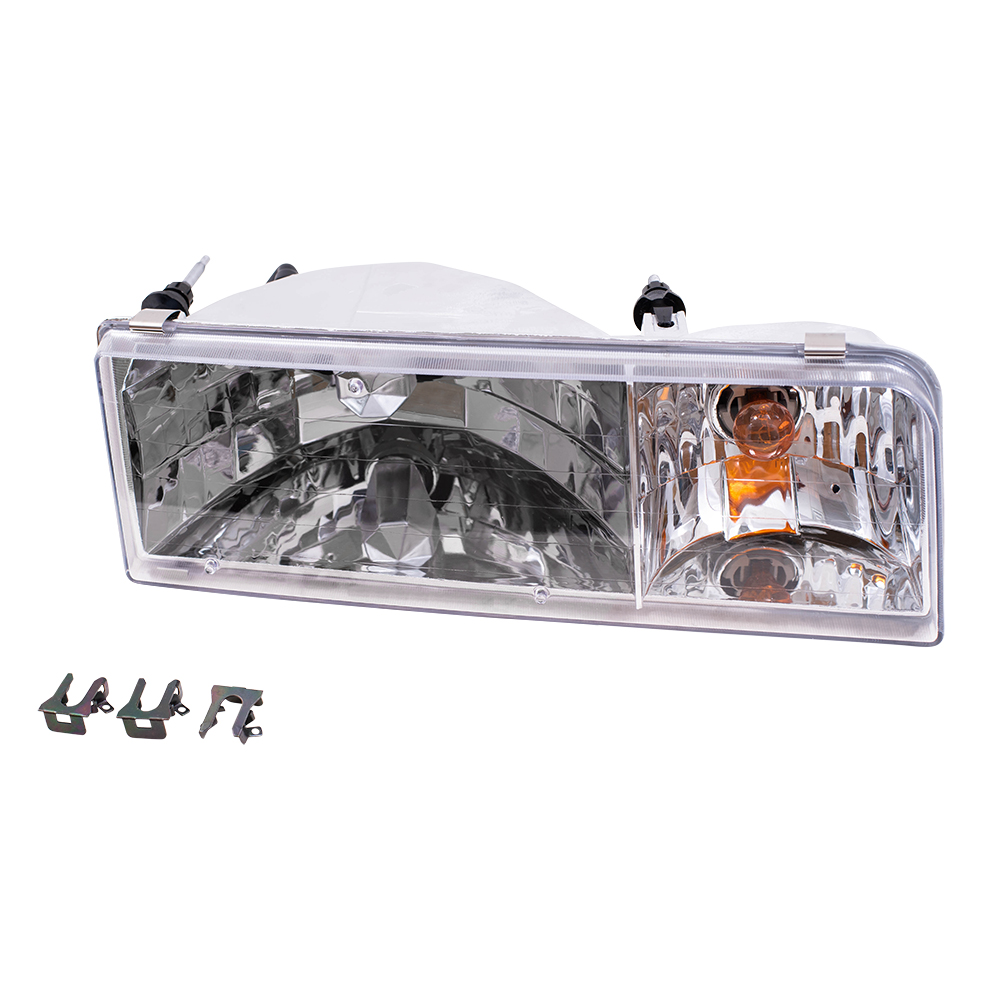 95 97 Lincoln Town Car Passengers Headlight Assembly