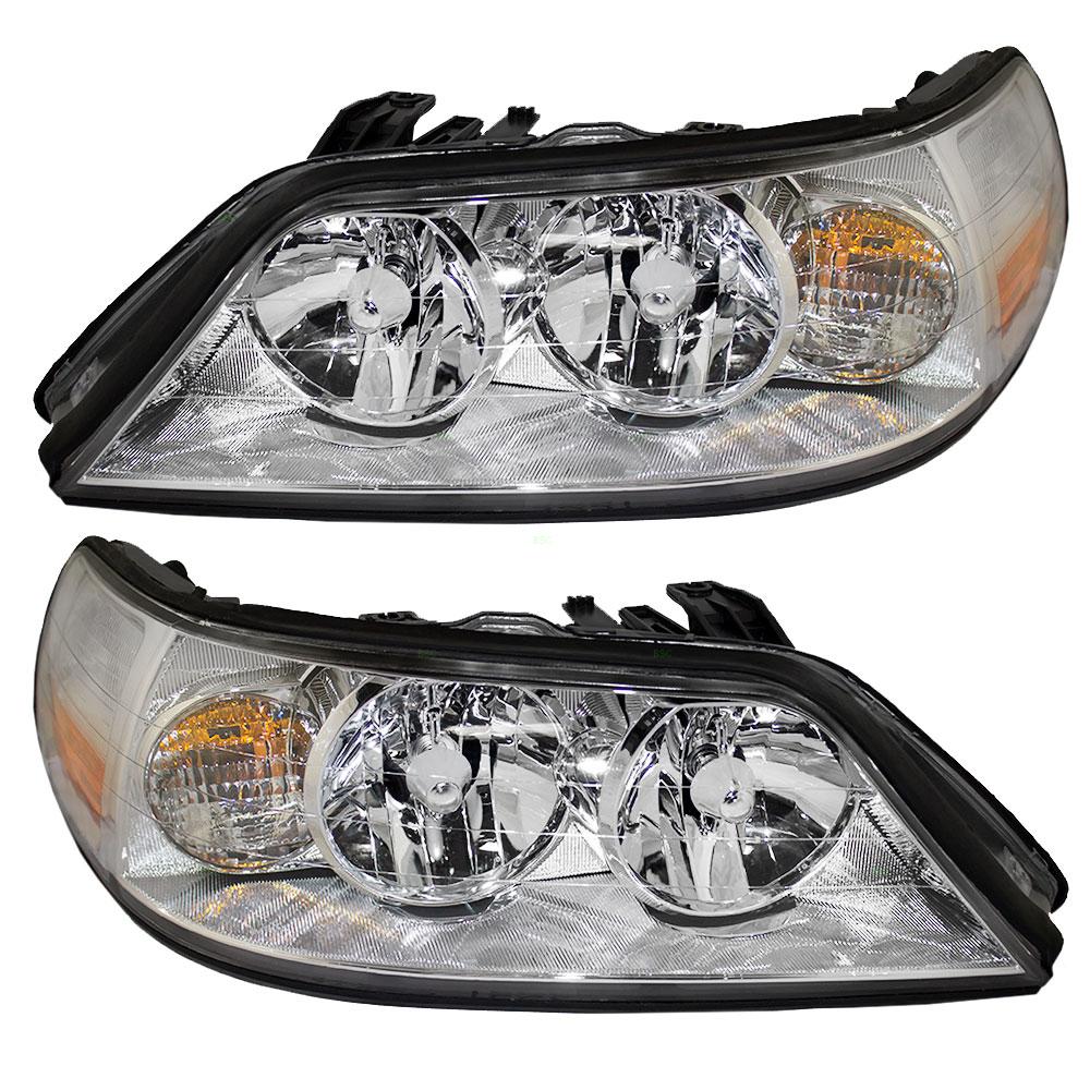 05 11 Lincoln Town Car Set Of Halogen Headlights Everydayautoparts Com