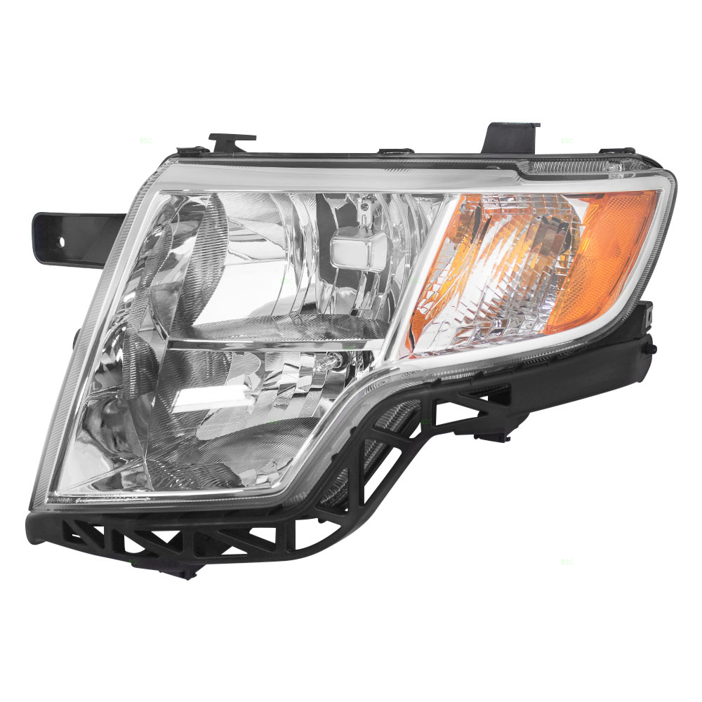 Picture Of   Fd Edge Headlamp Assy W Chrome Bezel Lh