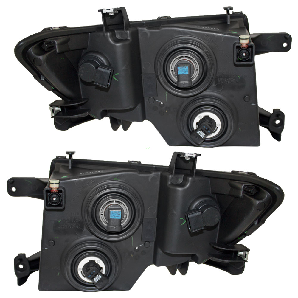 Ford Edge New Pair Set Headlight Headlamp Housing Assembly With Black Bezel Dot