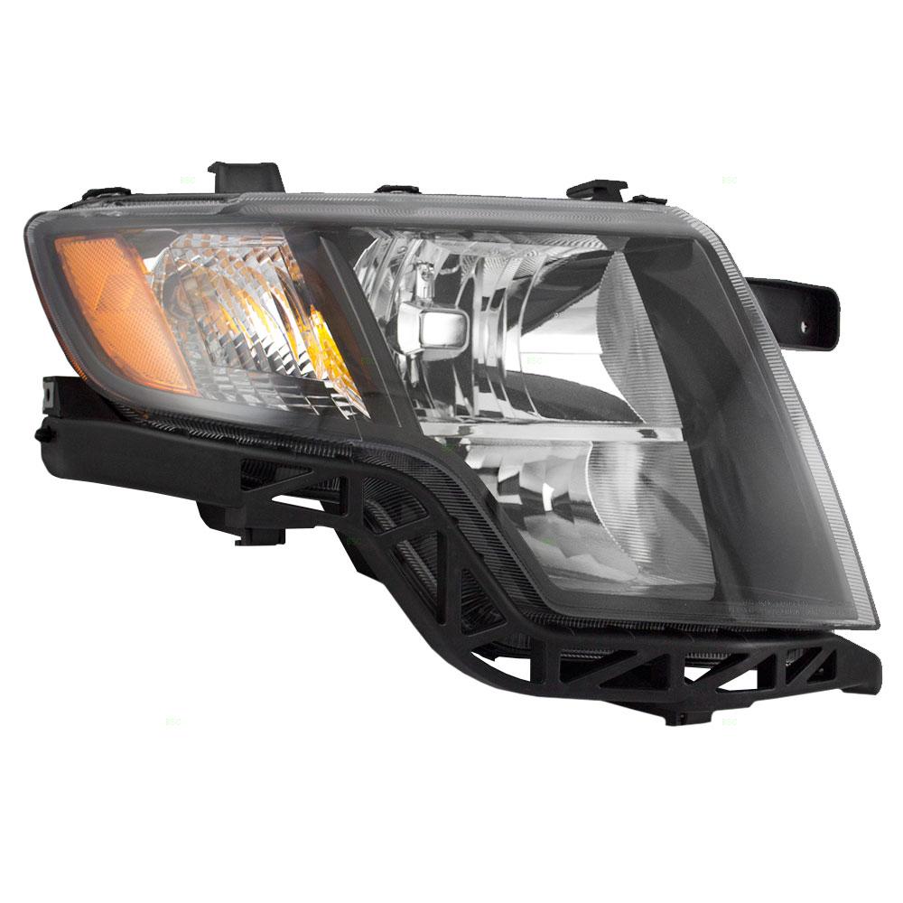 Ford Edge New Passengers Headlight Headlamp Lens Housing Assembly With Black Bezel Dot