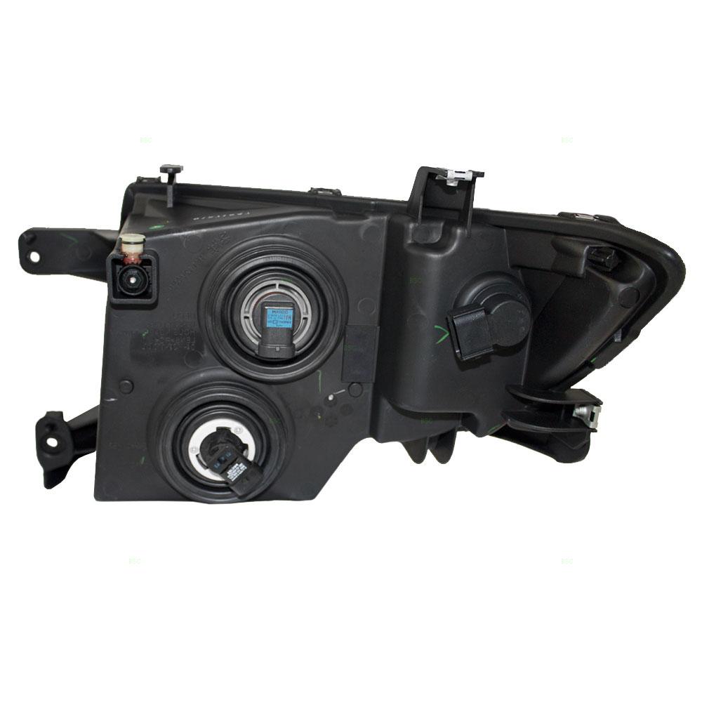 Ford Edge Passengers Headlight Assembly Black Bezel