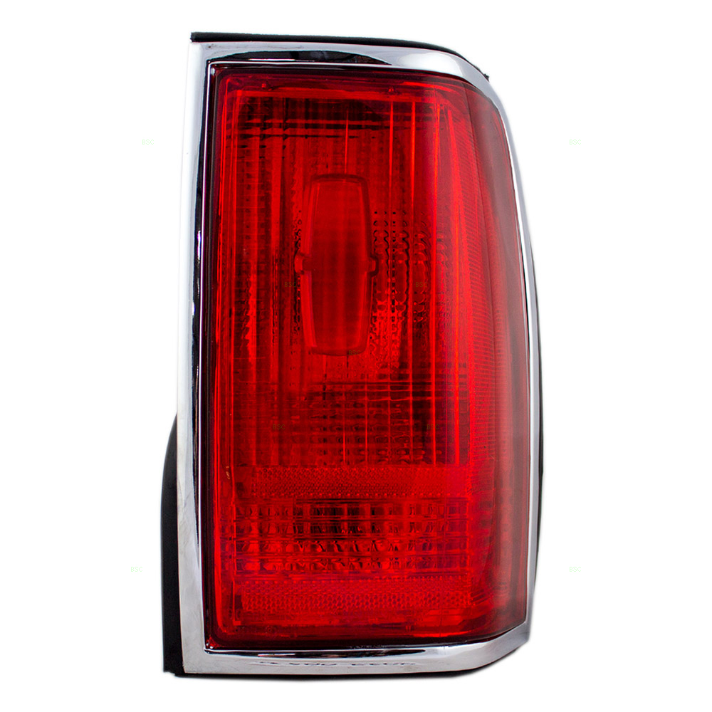 Brock Supply 90 97 Ln Town Car Tail Lamp Unit W Chrome Trim W O