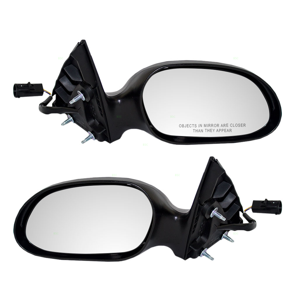 Picture of mercury sable ford taurus new pair set power side view mirror glass housing with