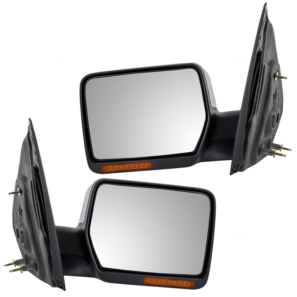 Ford F  Pickup Truck New Pair Side View Mirror Chrome Cover