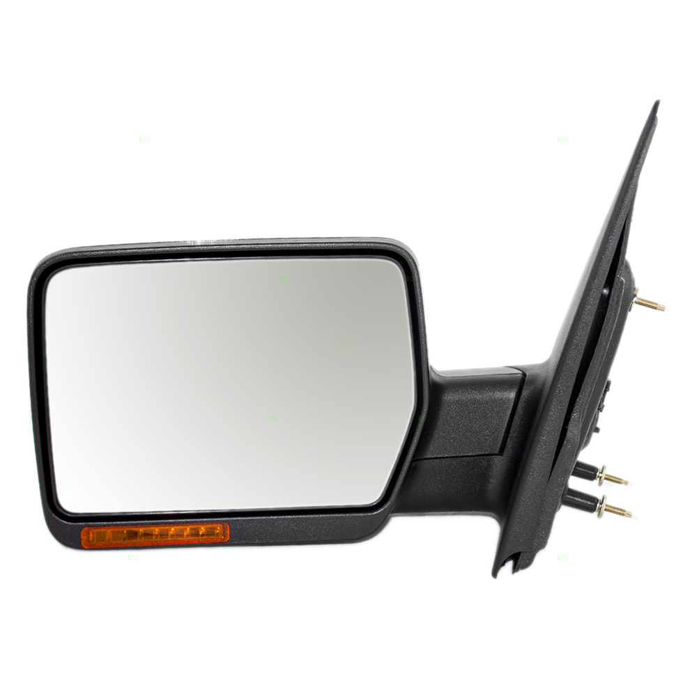 Ford F  Lincoln Mark Lt Pickup Truck Drivers Side View Power Mirror Heated Signal Lamp Chrome