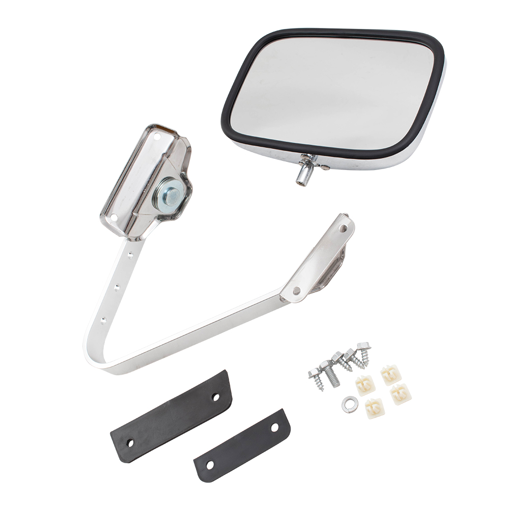 Brock Supply 80 97 Fd Pickup Manual Mirror Chrome 5x8 Swing Lock L 1980 Ford Bronco Picture Of Lr W