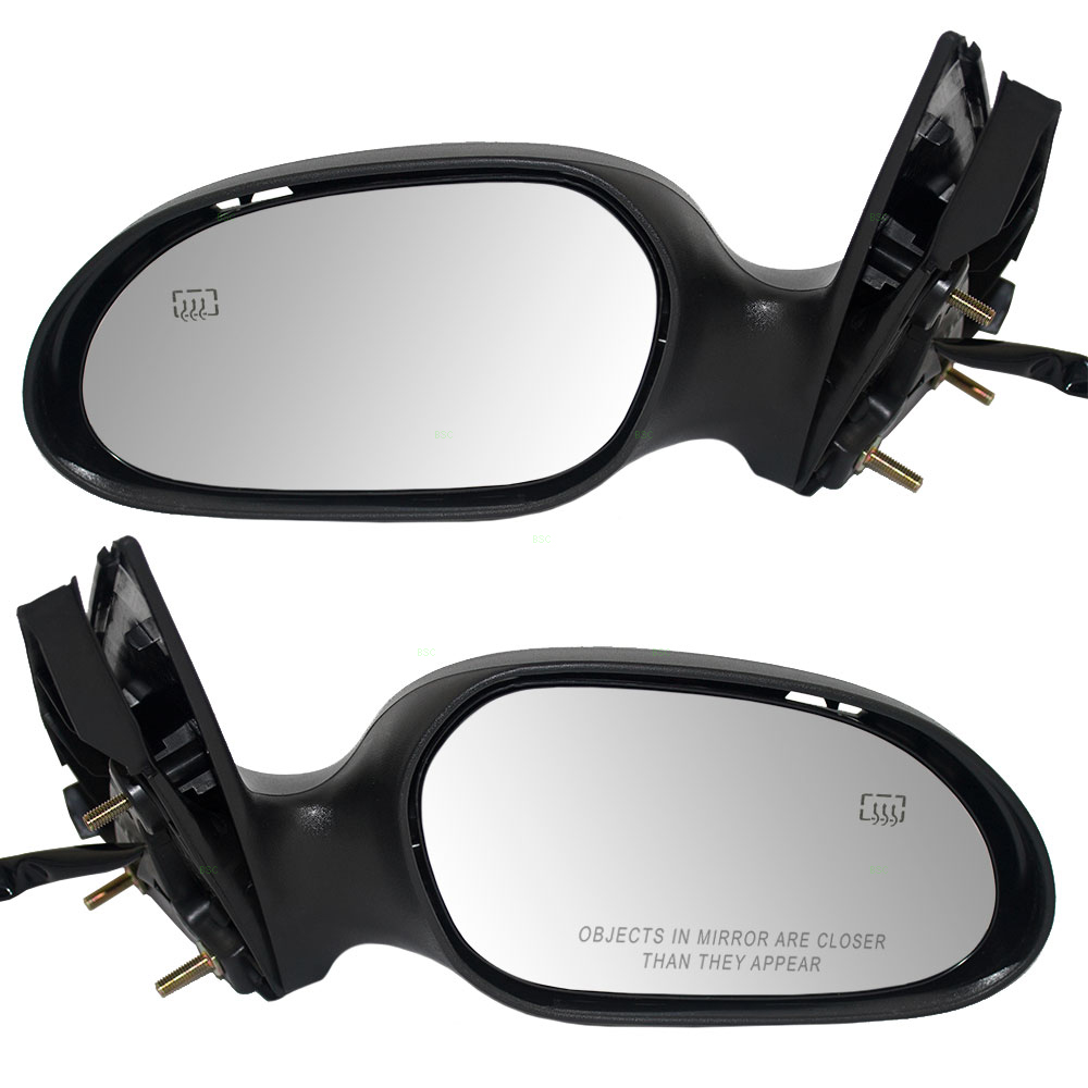 Picture of ford taurus mercury sable new pair set power side view mirror glass housing heated