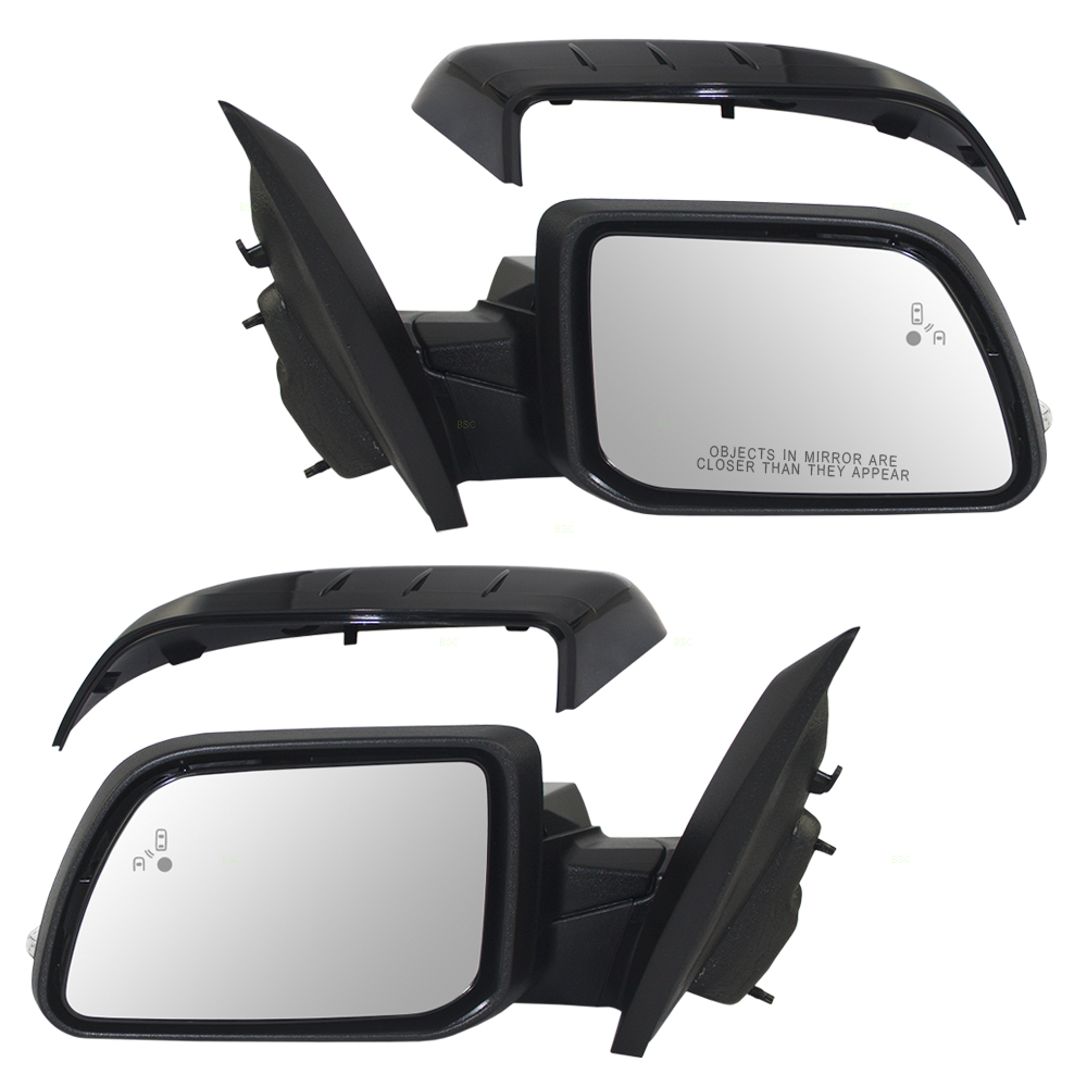 Ford Edge Set Of Side View Power Mirrors Heated Signal Puddle Lamp