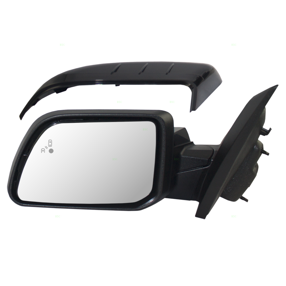 Ford Edge New Drivers Power Side View Mirror Glass Housing Heated Puddle Lamp