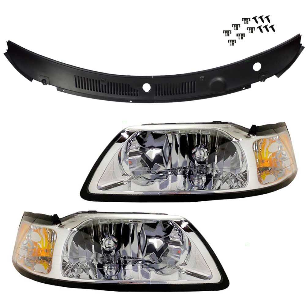 99 04 Ford Mustang Set Of Headlights