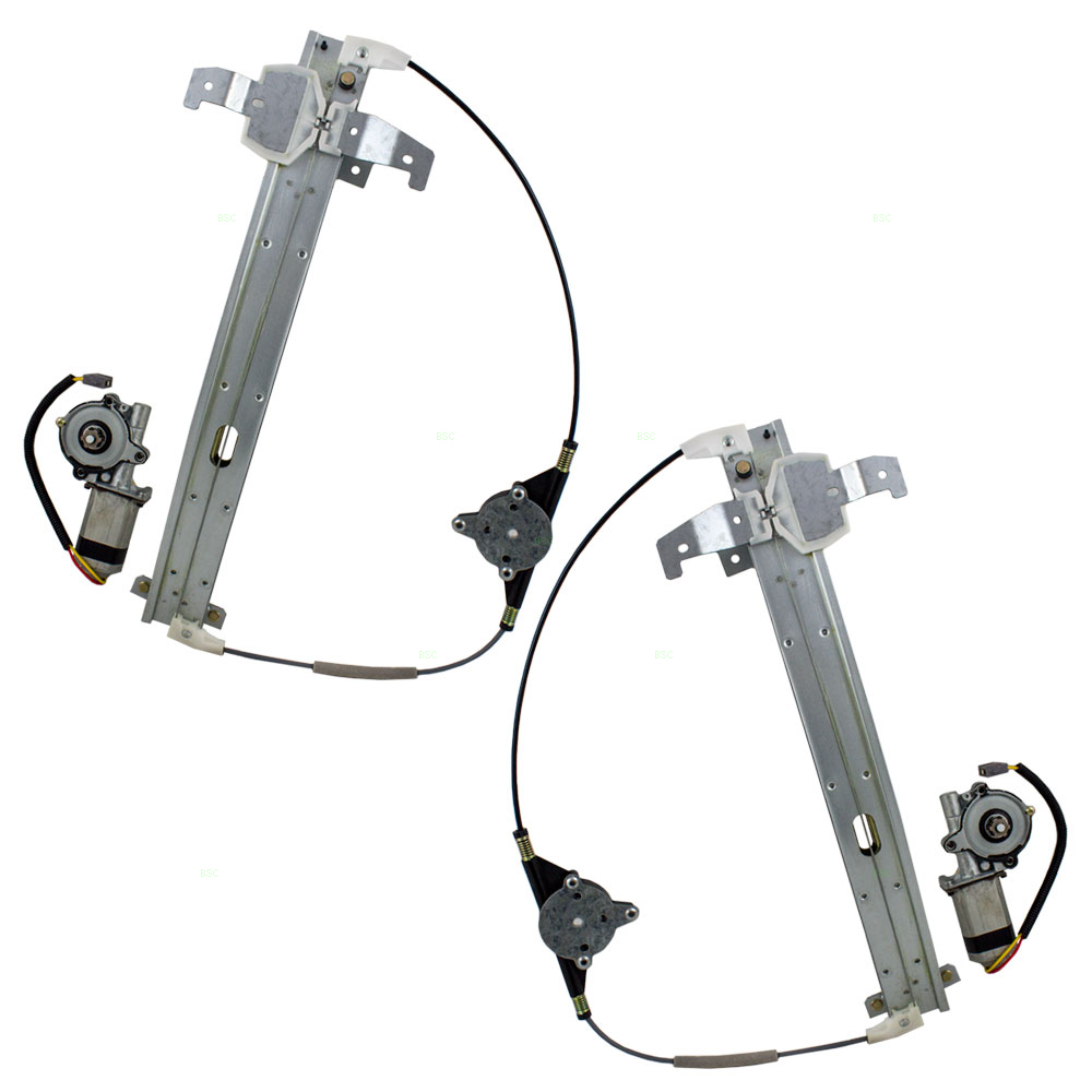 90 93 Lincoln Town Car Set Of Rear Power Window Lift Regulators With