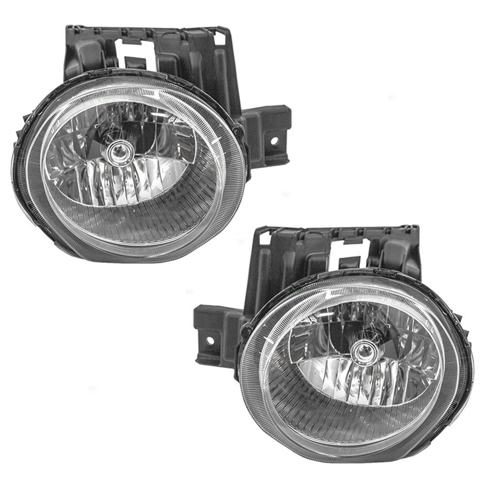 11-14 Nissan Juke New Pair Set Headlight Headlamp Lens Housing Assembly