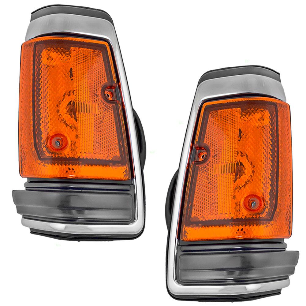 NEW Pair Set Marker Park Signal light For 86-87 Nissan Truck