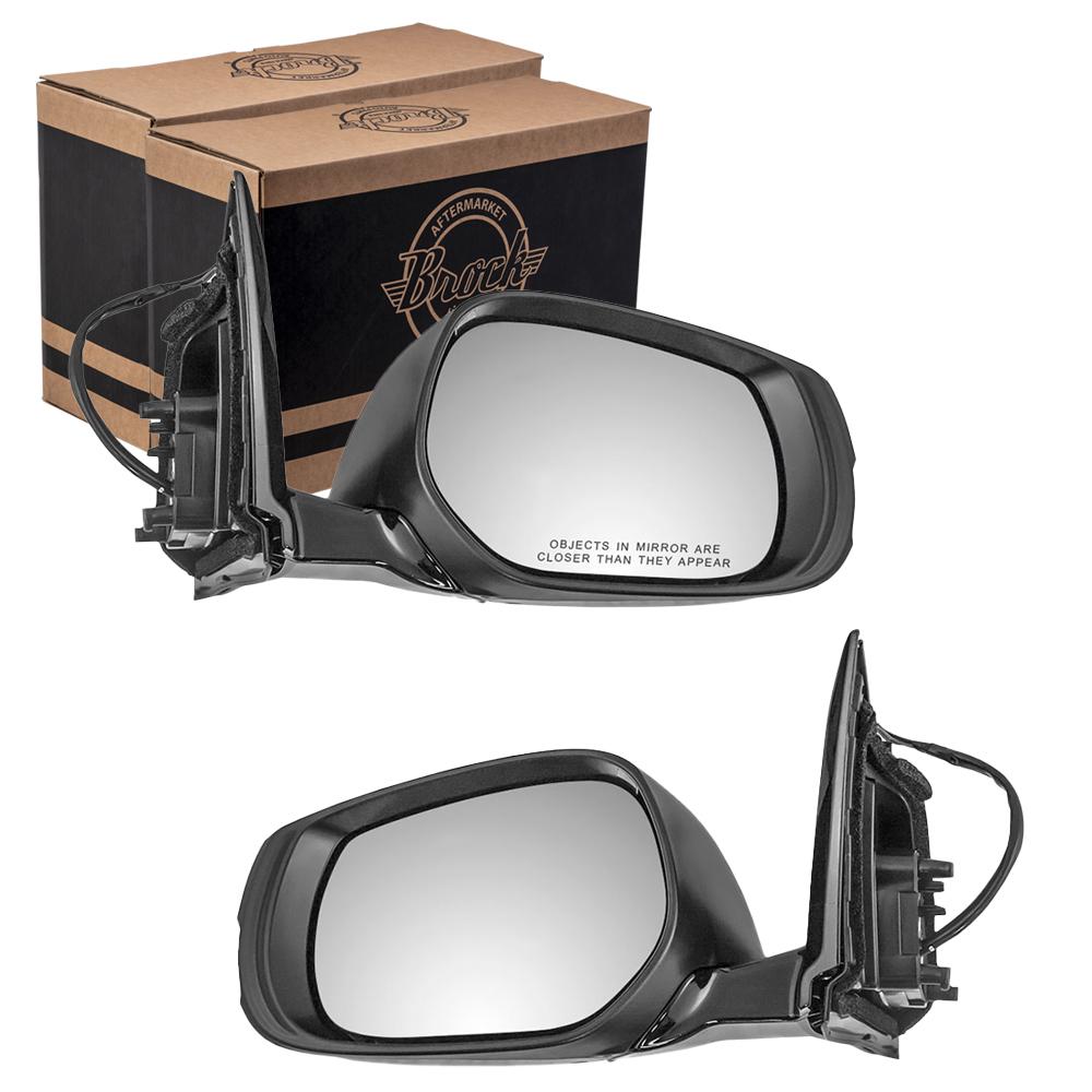 Autoandart Com 14 15 Infiniti Q50 Hybrid New Pair Set Power Side View Mirror Glass Housing Heated