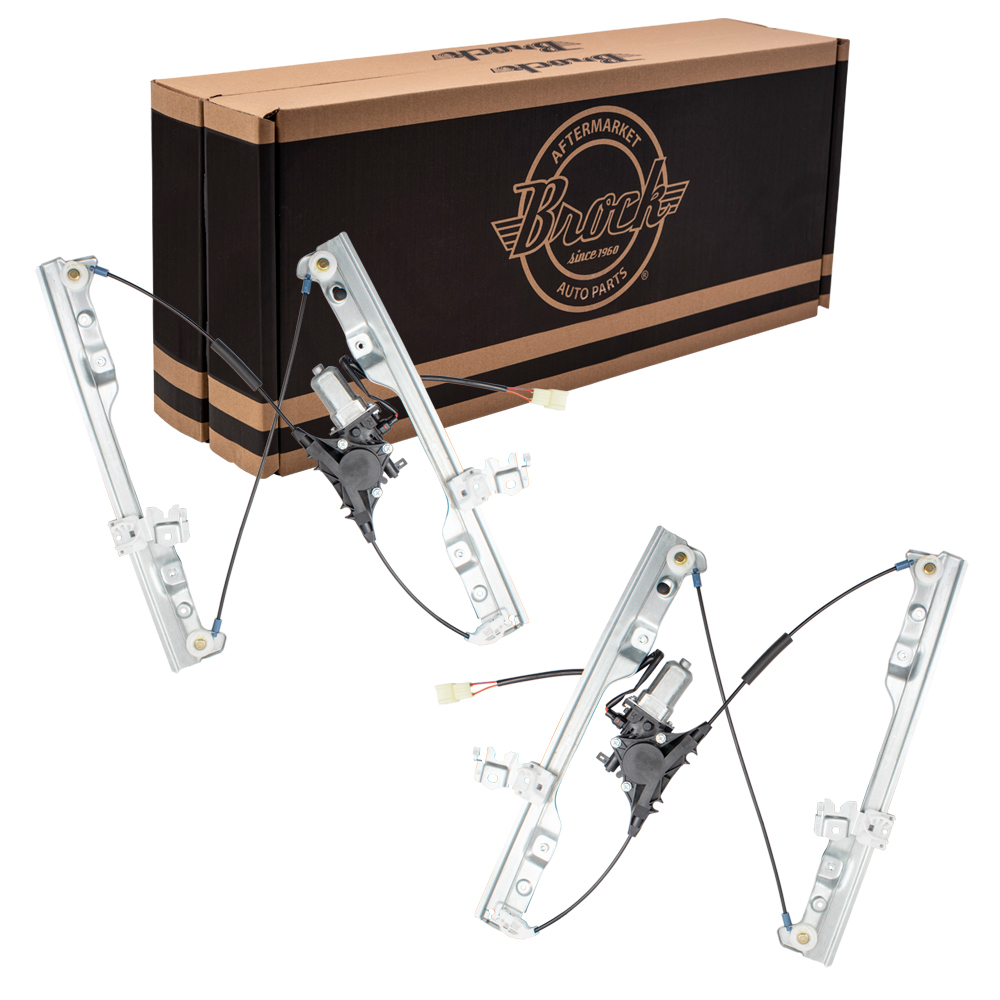 Pair of Power Window Regulators w/ Motors Front Set 08-13 Nissan Rogue &  14-15 Rogue Select