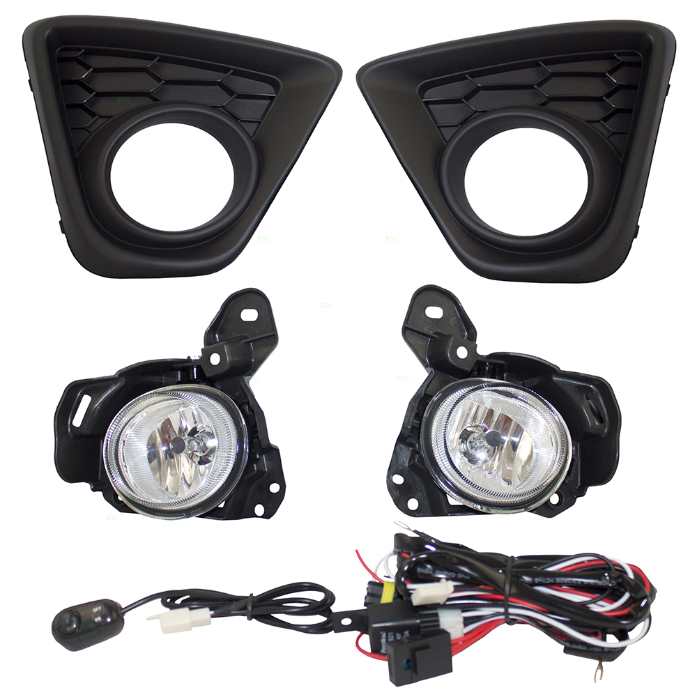 13-16 Mazda CX-5 Set of Fog Lights Lamps & Bezels Kit w/ Bulb Wiring ...