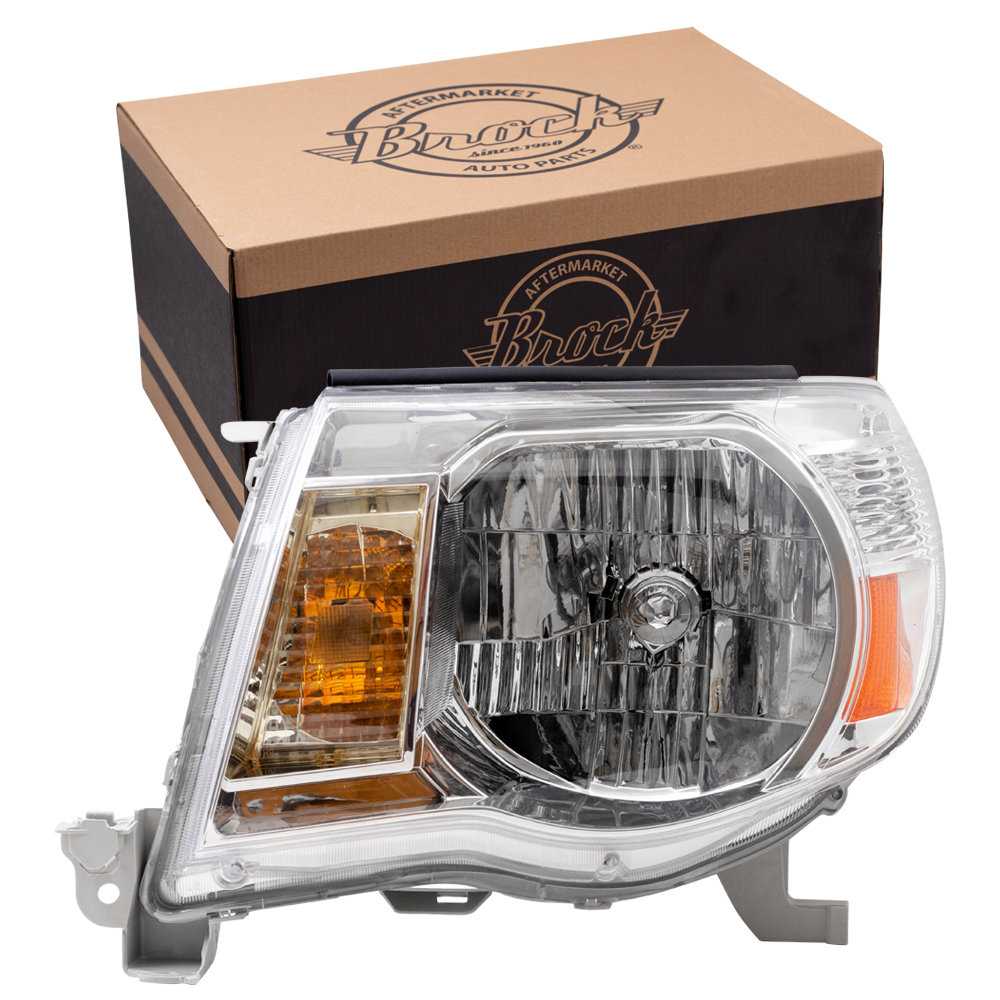 Picture Of 05 11 Toyota Tacoma Headlamp Assembly W Bright Chrome Bezel Lh