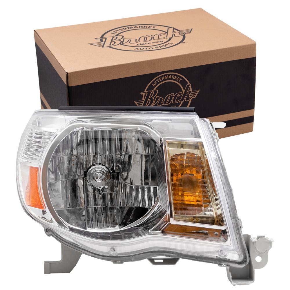 Picture Of 05 11 Toyota Tacoma Headlamp Assembly W Bright Chrome Bezel Rh