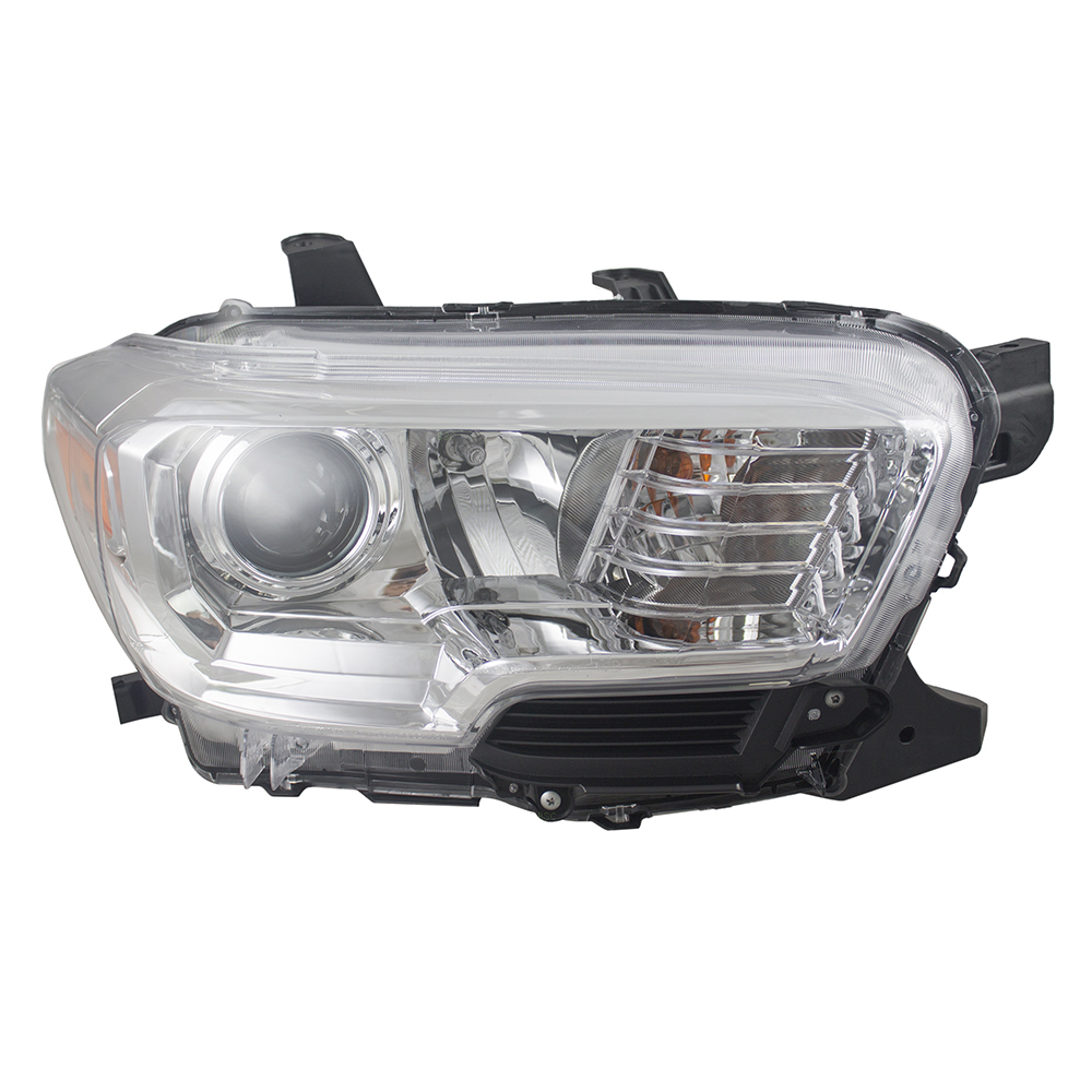 Picture Of 16 17 Toyota Tacoma Halogen Headlamp Assembly W Chrome Trim