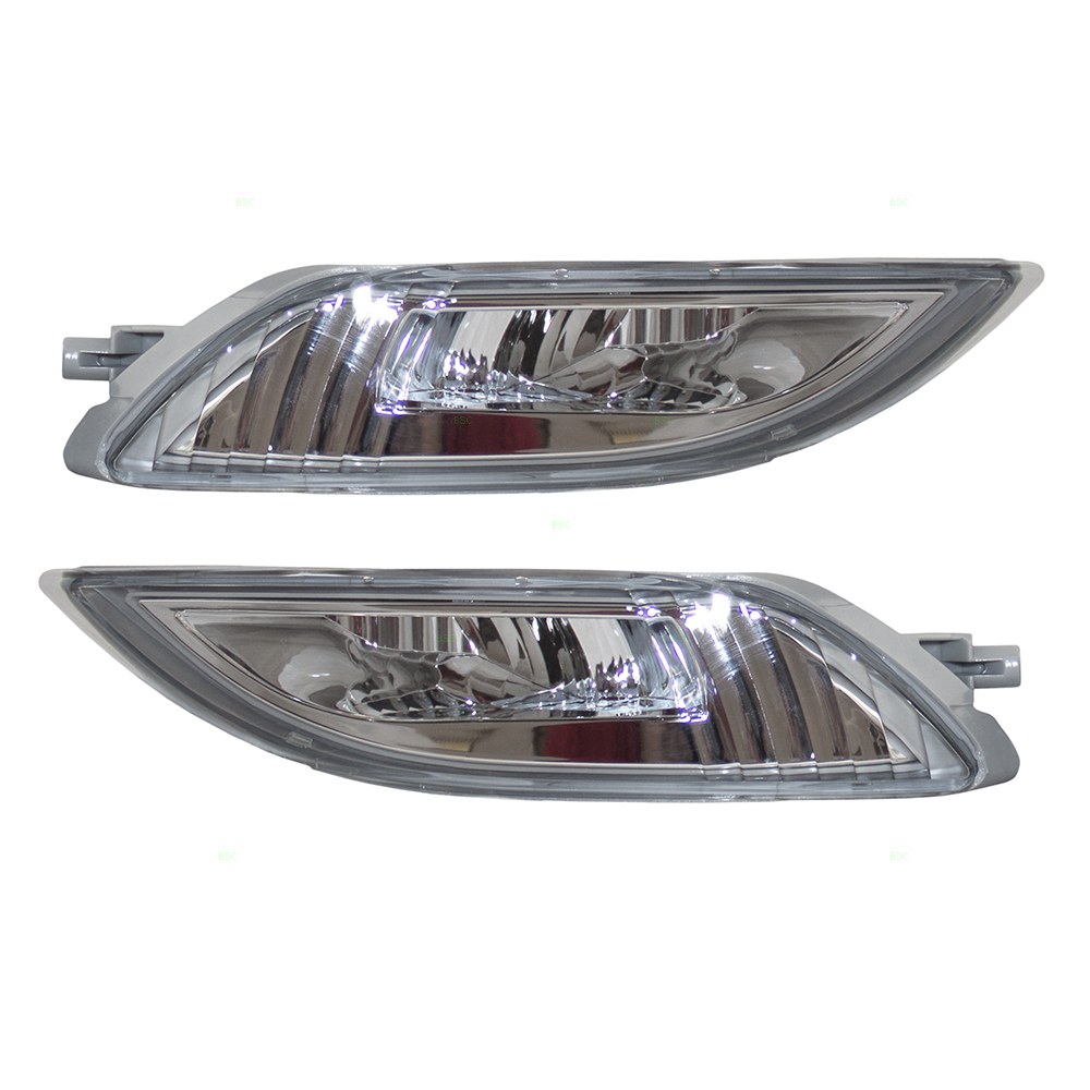 06 10 Toyota Sienna Set Of Led Fog Lights Clear Lamps Bezels Bulb Wiring A Light To Switch