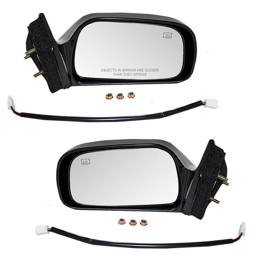 97 01 Toyota Camry Us Japan Set Of Side View Power Mirrors Heated