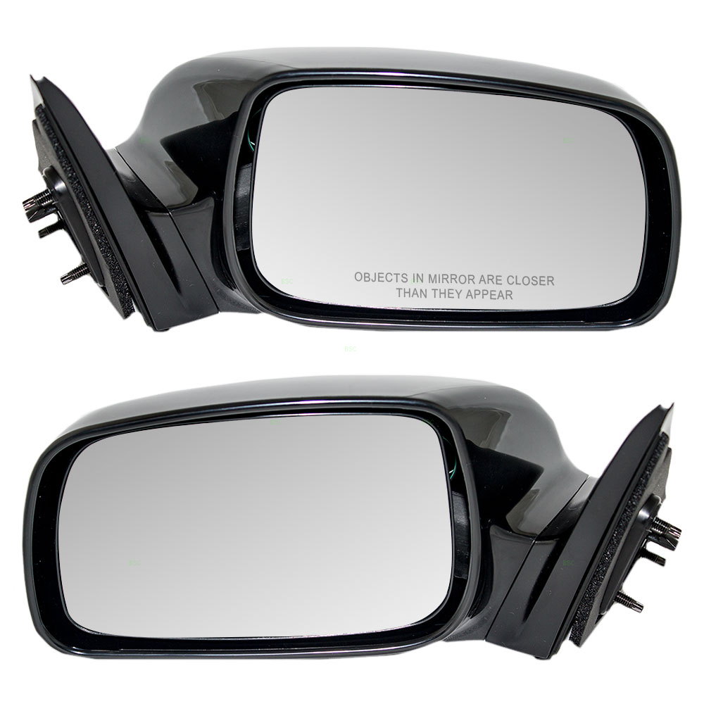For 2007-2011 Toyota Camry Passenger Driver LR Power Black Mirrors PAIR Set New
