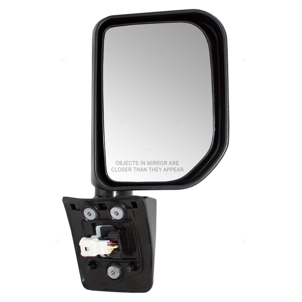 Fits Toyota FJ Cruiser 07-14 Drivers Side View Power Mirror Gloss Black w// Lamp