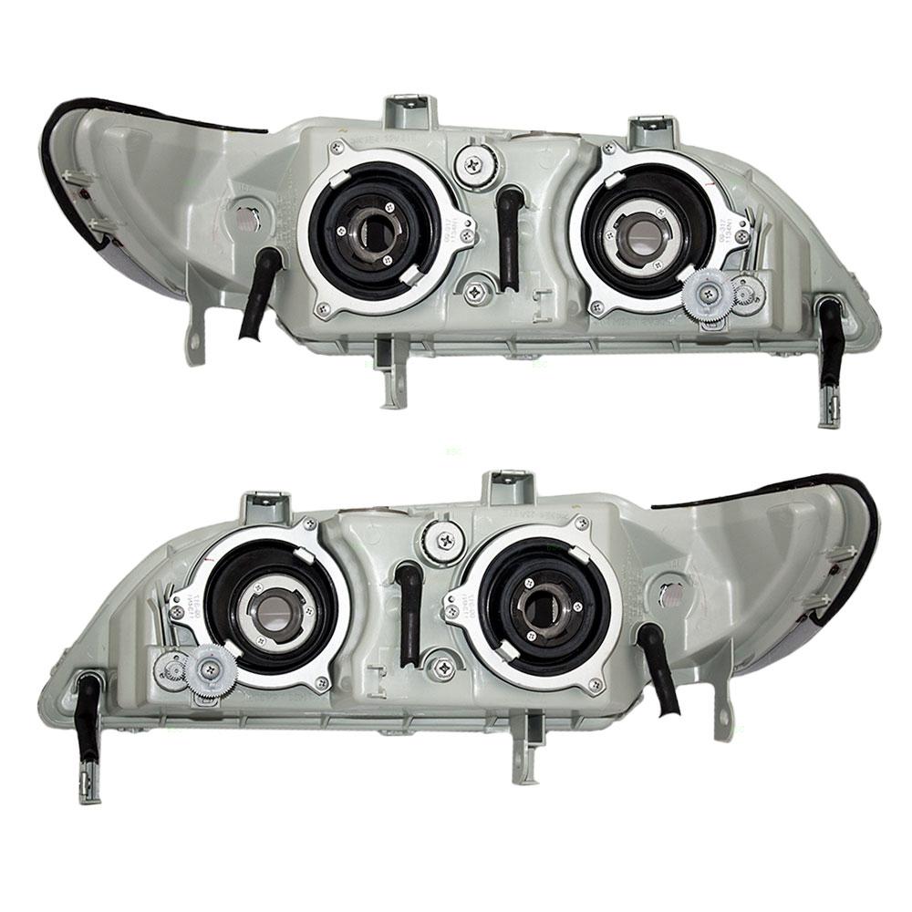97 99 Acura CL New Pair Set Headlight Headlamp Lens Housing Assembly DOT