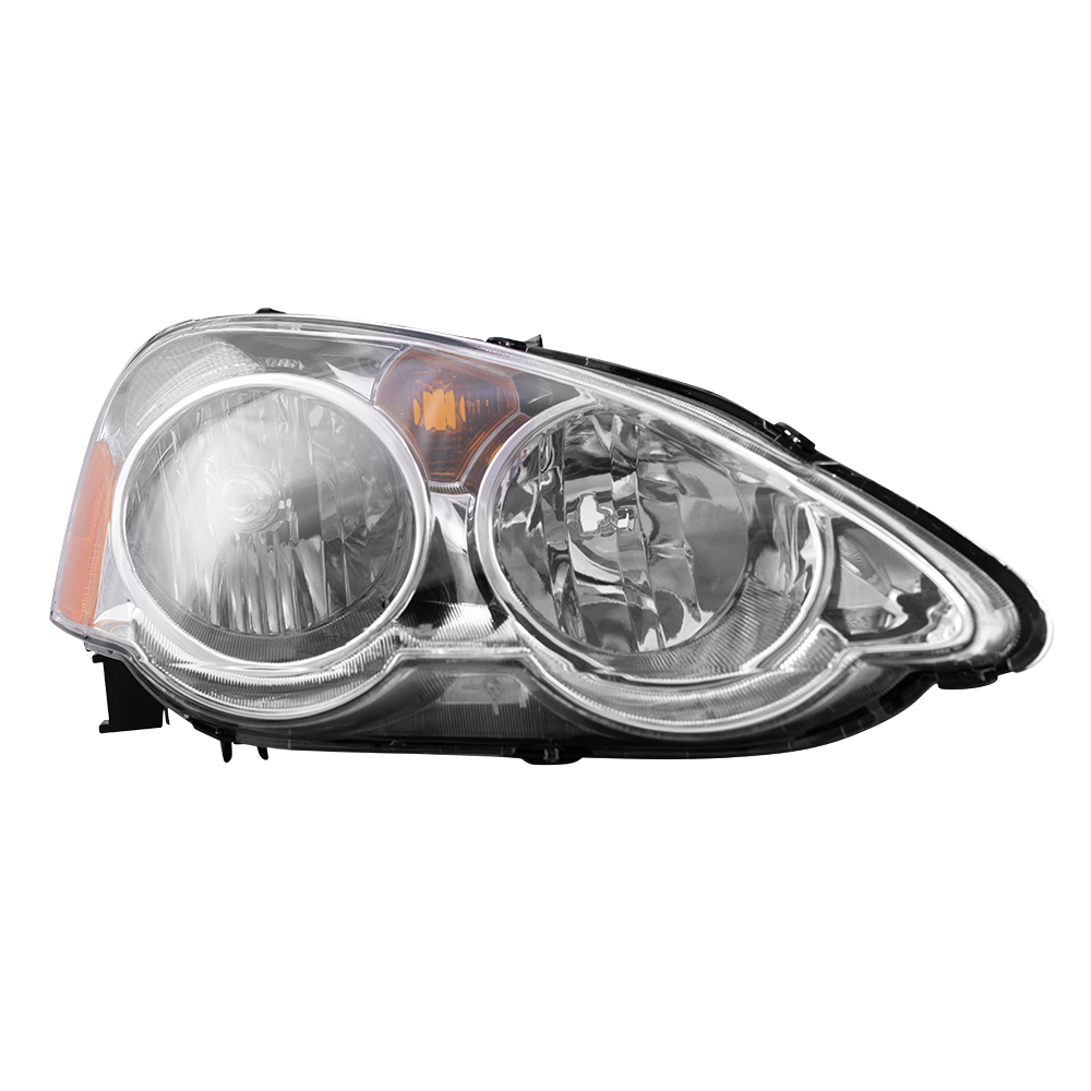 autoandart com 02 04 acura rsx new pair set headlight headlamp