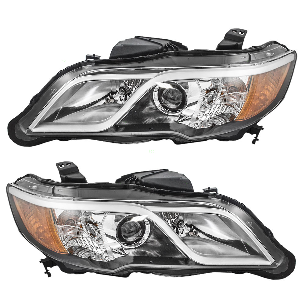 13-16 Acura RDX Set Of Halogen Headlights Headlamps