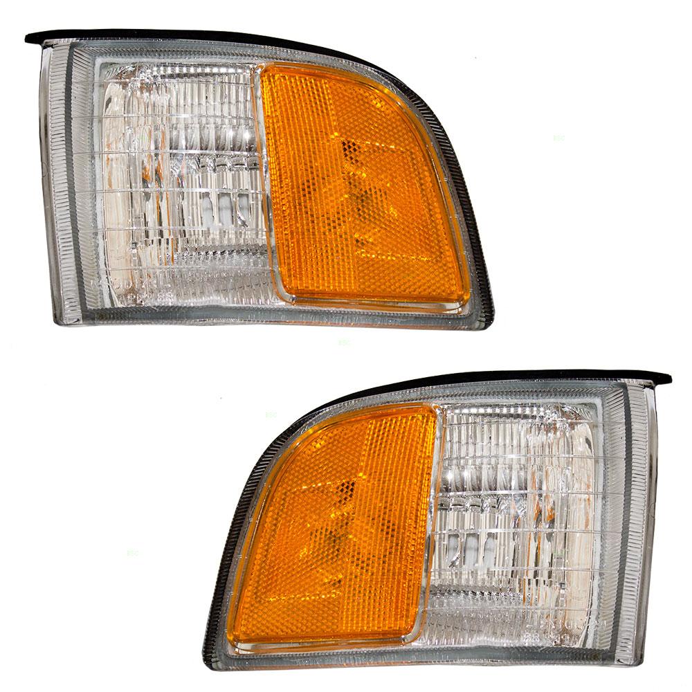 91-95 Acura Legend Set Of Side Park Signal Marker Lights