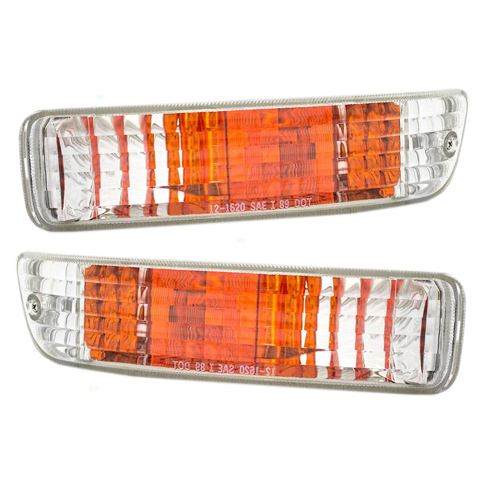 92-93 Acura Integra Set Of Front Park Signal Marker Lights