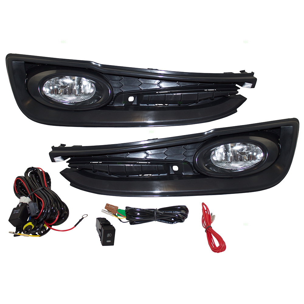 Brock Supply 13 15 Hn Civic Sedan 18l Fog Lamp Set L R Clear Lens Wiring A Switch For Lights Picture Of
