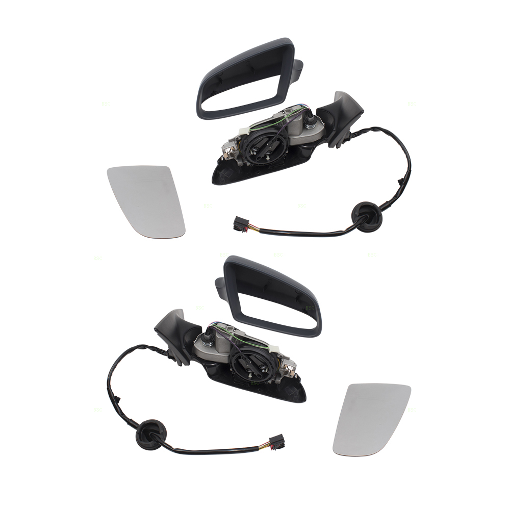 05-08 Audi A6 S6 Set of Side View Power Folding Mirrors Heated