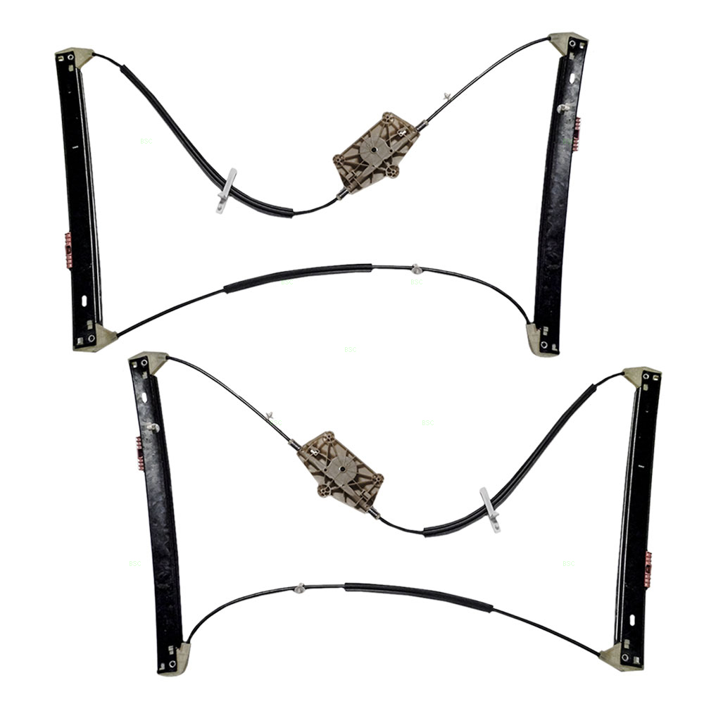 Audi A6 S6 Set Of Front Power Window Lift Regulators