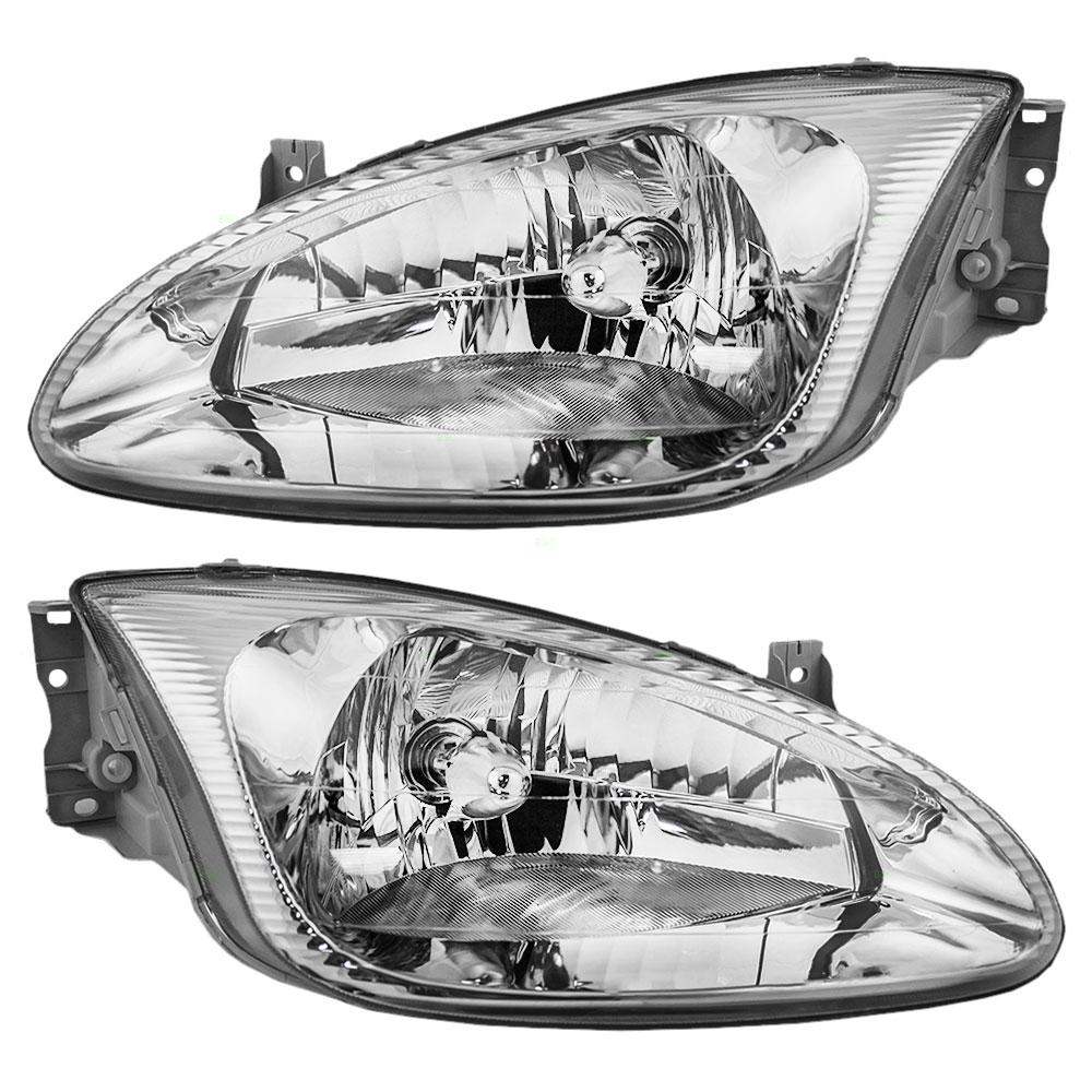 99 00 Hyundai Elantra Set Of Headlights