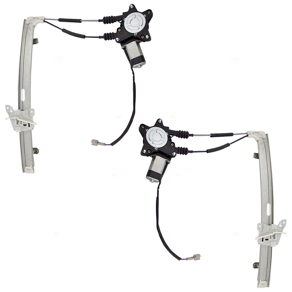 New Pair Set Front Power Window Lift Regulators /& Motors for Kia Rio Rio Cinco