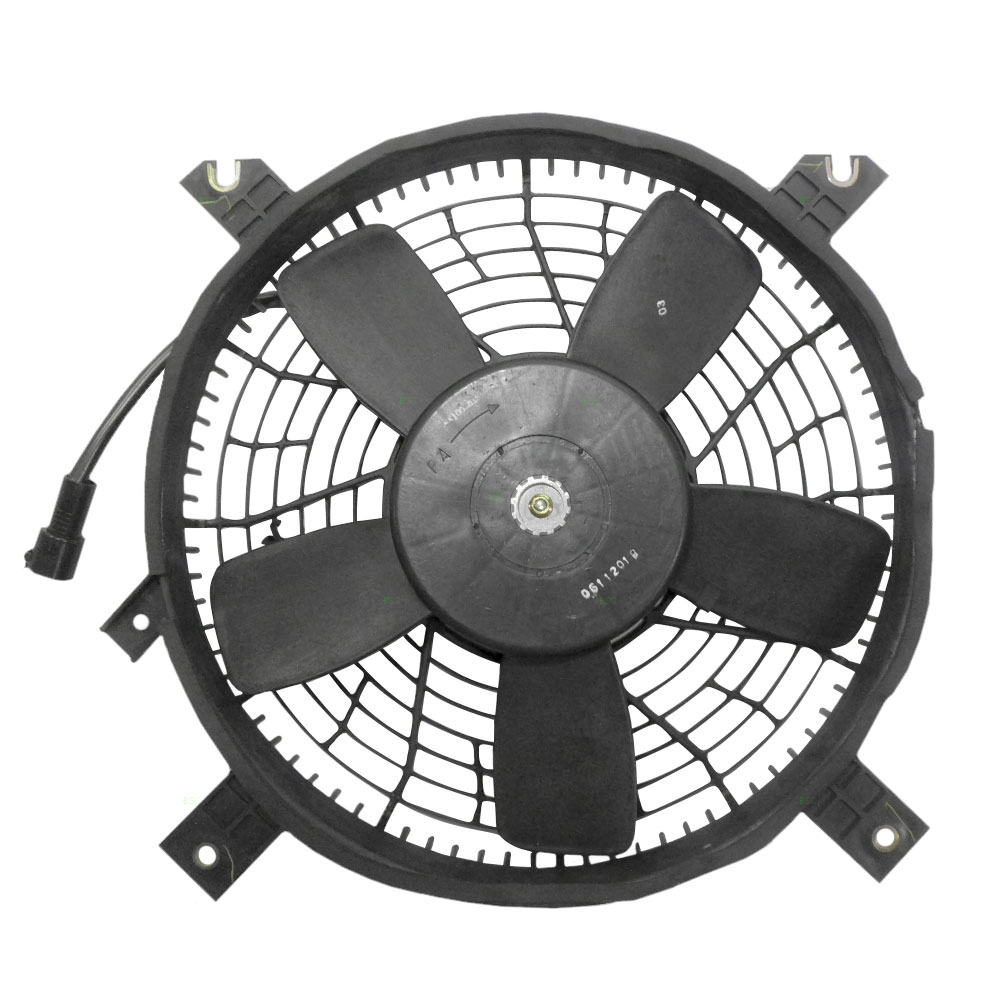 Suzuki vitara grand vitara xl 7 acura a c condenser cooling fan motor with round plug assembly