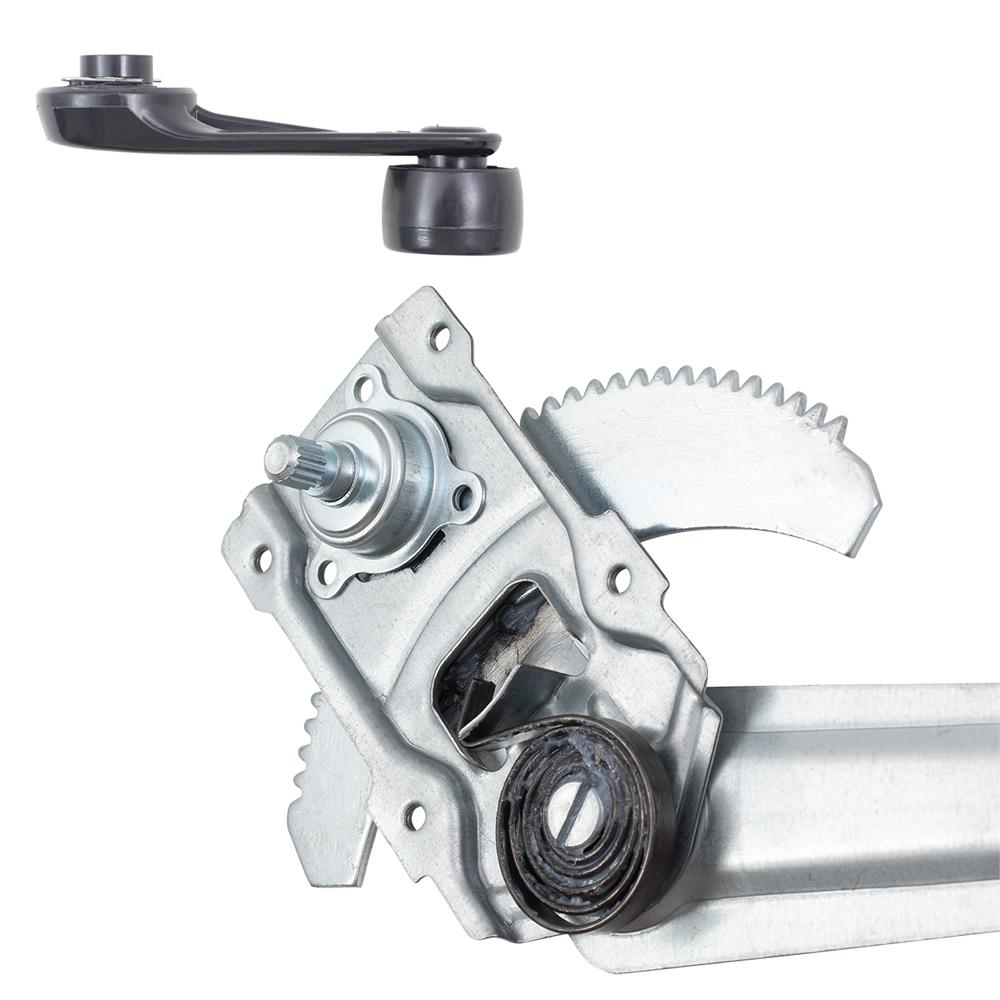 Fits Toyota Pickup w//o Vent Window 4 Pc Manual Window Regulators /& Crank Handles
