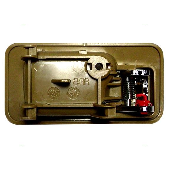 90 93 honda accord drivers inside manual tan chrome door handle. Black Bedroom Furniture Sets. Home Design Ideas