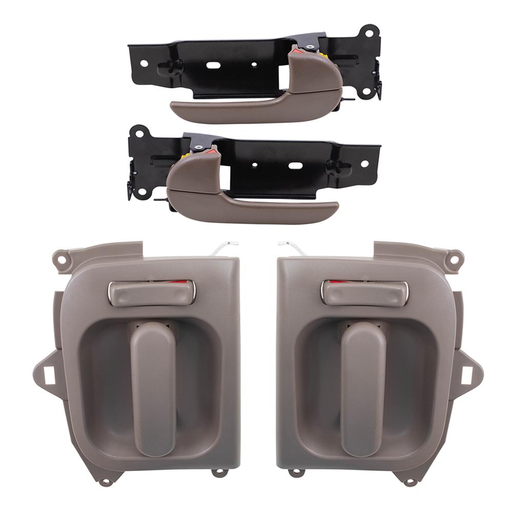 02 05 Kia Sedona Set Of 4 Inside Front Sliding Beige Door Handles