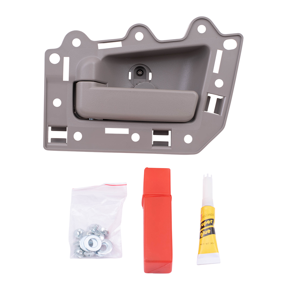 Brock supply 05 10 jp grand cherokee inside door handle repair kit beige housing w beige 2005 jeep grand cherokee interior door handle replacement