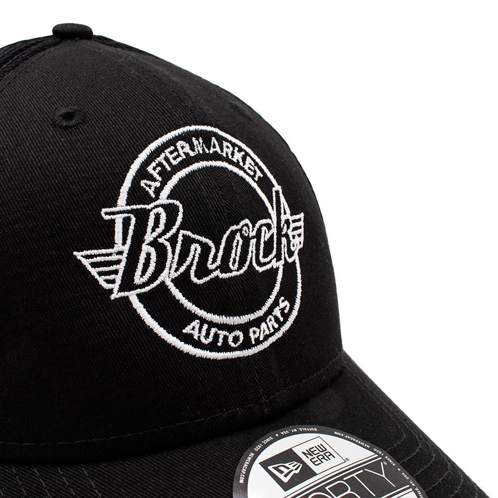 e836c2fbe47 ... New Era Brock Logo 9FORTY Black Baseball Cap Snapback Back Mesh Style  Adjustable Hat Pre-