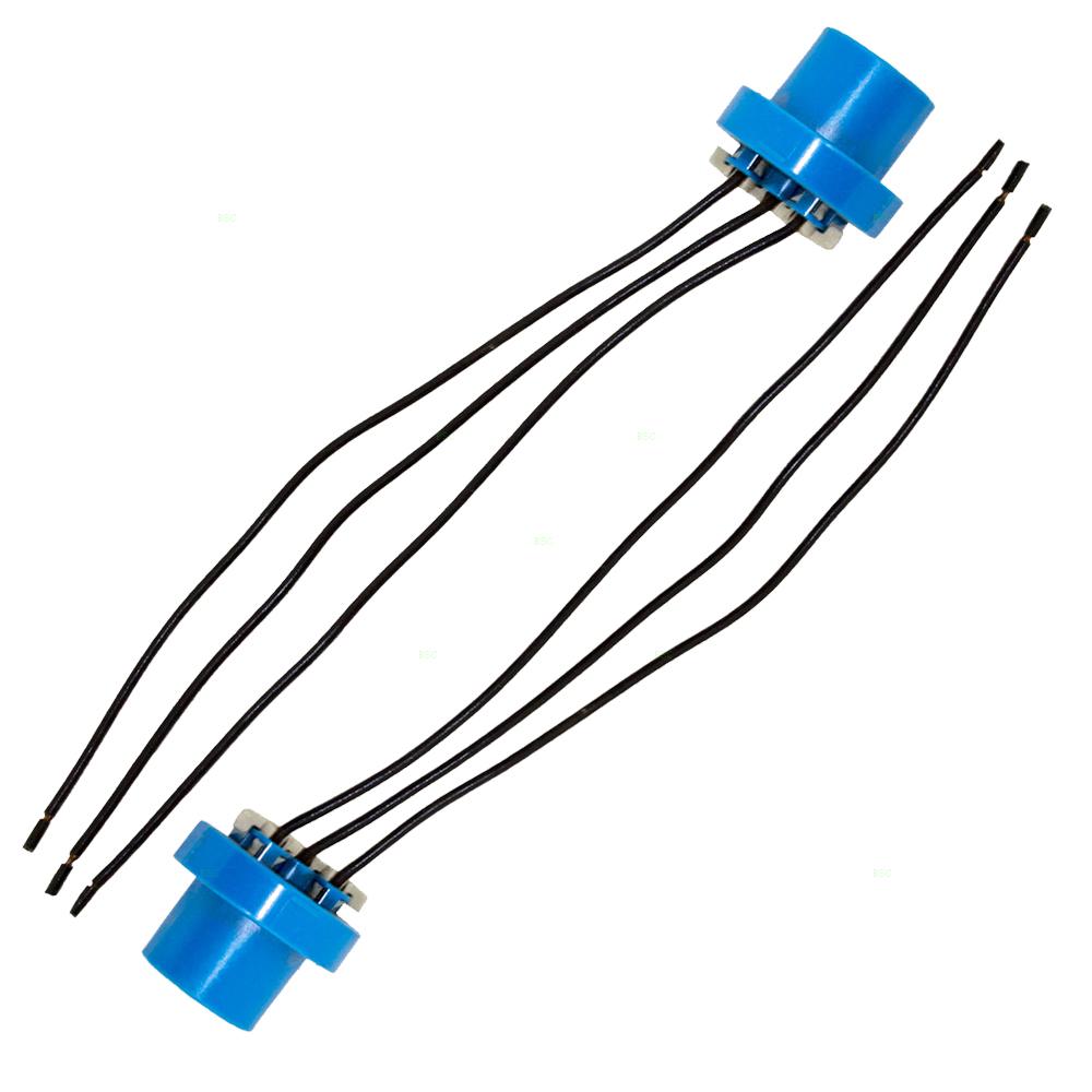 Universal Various Models Set Of Halogen Headlight Socket Connector Wiring Pigtails