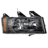 Chevrolet Colorado GMC Canyon Isuzu Pickup Truck Passengers CAPA-Certified Headlight Assembly - with Black Bezel