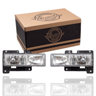88-99 GM Pickup SUV New Pair Set Composite Performance Headlight Headlamp w/ Crystal Clear Lens Housing Assembly