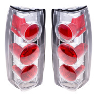 Chevrolet GMC Suburban Yukon Tahoe Pickup Truck New Pair Set Altezza Taillight Taillamp Clear Lens Housing Assembly