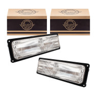 GMC Chevrolet Yukon Suburban Blazer Tahoe Pickup Truck New Pair Set Front Park Signal Marker Lamp Light Unit